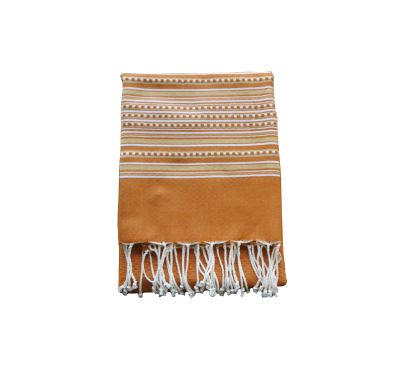 Fouta Nid d'abeille Orange