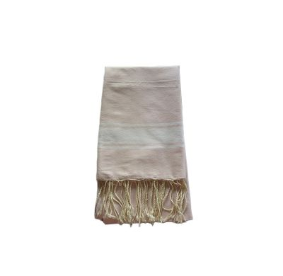 Fouta Tissage Plat Rose Pale